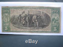 Monnaie Nationale De La Banque Marine Ny Charte 1215 Cinq Sur La Rive 1865