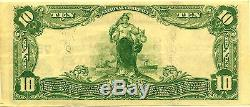 Monnaie Nationale De La Série 1902 The Citizens National Bank Of Gastonia Nc $ 10 Note