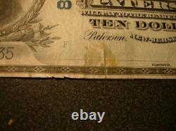 Monnaie Nationale Des États-unis 1902 La Deuxième Banque Nationale De Paterson N. J. 10 $ Note