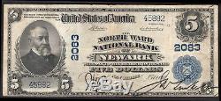 Monnaie Nationale Des États-unis. Quartier Nord Banque Nationale Newark. 5 Dollars. Série 19