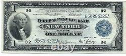 Monnaie Nationale Fed Reserve Bank Of Ny $1 1918 Possible Petite Erreur En Série