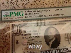 Pmg 30 1929 $10 Kalamazoo Michigan Type 2 National Bank Note Currency MI