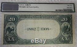 Pmg 35 $ 20. 1882 Winnebago City Minn National Currency Bank Note Bill Ch. # 5406