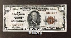 Réserve Nationale Monnaie Fédérale De Billets De Banque Minneapolis Numéro De Série I00038145a