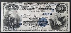 Série 1882 10,00 $ Us Nat'l, The Oil City Banque Nationale, Oil City, Pa