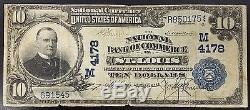 Série 1902 10,00 $ Nat'l Currency, La Banque Nationale De Commerce, St. Louis, Mo