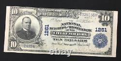 Série 1902 10 $ Note De La Banque De Monnaie Nationale (banque De New York, Chapitre No 1261)