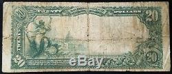 Série 1902 20,00 $ Monnaie Nationale, Première Banque Nationale À Pittsburgh, Pa
