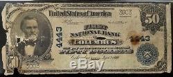 Série 1902 50 $ De La Monnaie Nationale First National Bank Of Columbus, Oh