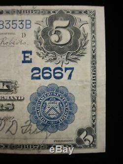Série 1902 Monnaie Nationale $ 5 Sellersville (pennsylvanie) Banque Nationale