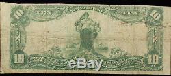 Série 1902 O'neill Nebraska National Bank 10 $ Monnaie Note Plainback