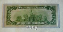 Série 1929 100 $ Banque Fédérale De Chicago Sceau Brun Monnaie Nationale Note