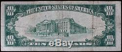 Série 1929 Hastings National Bank Nebraska 10 $ National Currency Fine