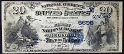 Série De 1882 $ 20,00 Nat'l Monnaie, La First National Bank De Medford, Wi