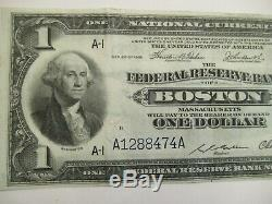 Série De 1918 $ 1 Réserve Fédérale Bank Of Boston, Monnaie Nationale