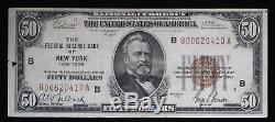 Série De 1929 $ 50 Monnaie Nationale Banque De Réserve Fédérale New York Fr-1880