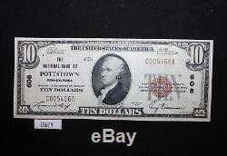 West Point Coins 1929 Monnaie Nationale # 608 $ 10 Banque Nationale De Pottstown Pa