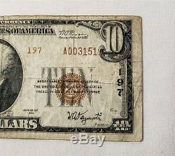 Wpc 10 $ 1929 2e Série Banque Nationale De National Currency'first York Pa # 197